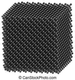Diamond crystal structure.