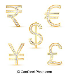 Diamond Currency - illustration of different currency in...
