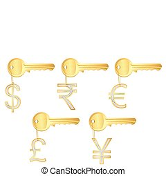 Diamond Currency Key Ring