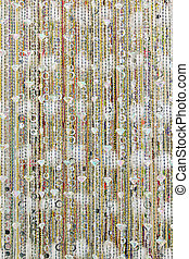 Diamond curtain - Diamonds pearls and crystals bijoux beaded...