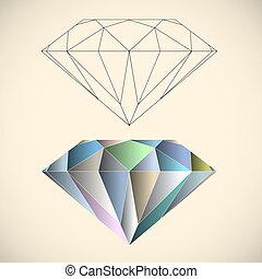 Diamond. Vector illustration