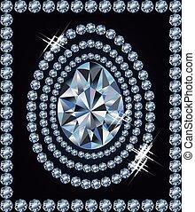 Diamond Easter egg, vector illustration