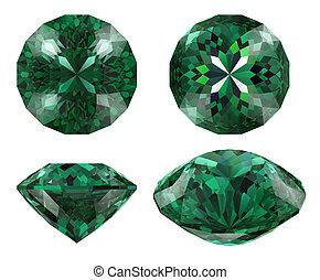 diamond emerald cut shape isolated
