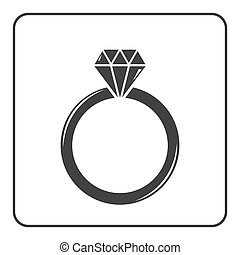 Diamond engagement ring icon 6 - Diamond engagement ring...
