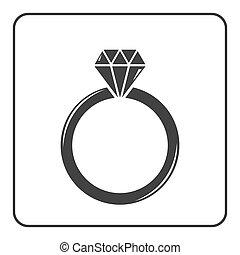 Diamond engagement ring icon 6 - Diamond engagement ring...