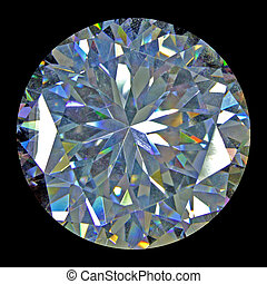 Diamond flare - Isolated diamond with black background from...