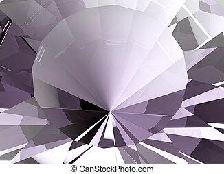 diamond., fond, bijouterie, illustration, 3d