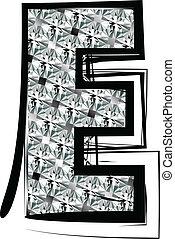 Diamond Font letter E
