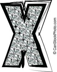 Diamond Font letter X