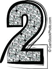 Diamond Font Number 2