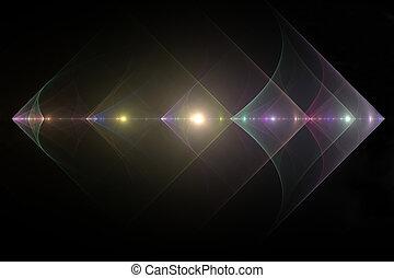 Diamond fractal background
