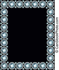Diamond Frame - frame made of shiny diamonds
