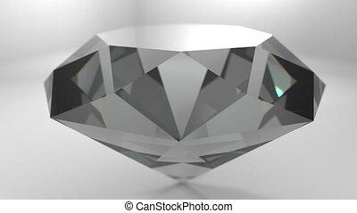 Diamond gemstone gem stone spinning wedding background loop