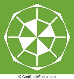 Diamond gemstone icon green