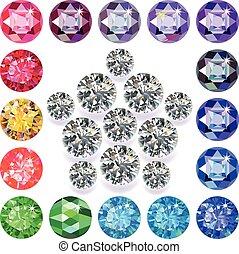 Diamond & gemstones set
