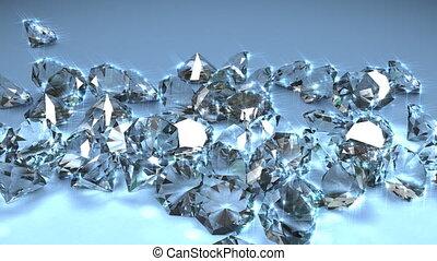 Diamond gemstones.