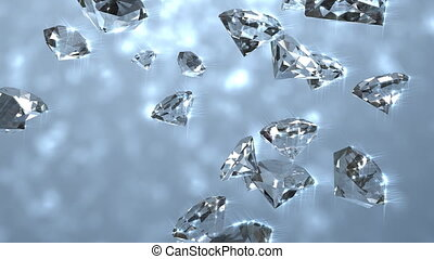Diamond gemstones.