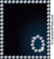 Diamond Happy Easter card, vector illustration