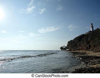 Diamond Head Lighthouse and Beach