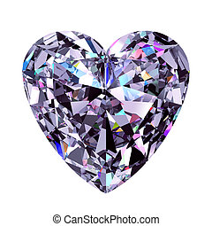 Diamond Heart. 3D Model. - Diamond Heart. 3D Model Over...