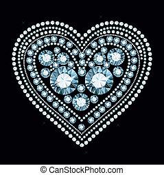 Diamond Heart - heart made of shiny gems