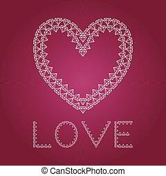 Diamond heart like love
