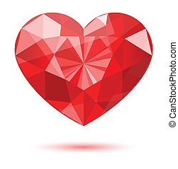 diamond heart shape, vector format for valentine or wedding...