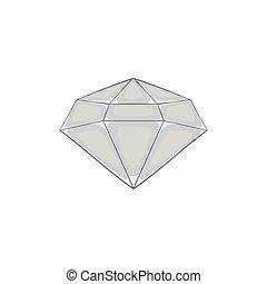Diamond icon, black monochrome style