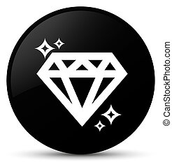 Diamond icon black round button