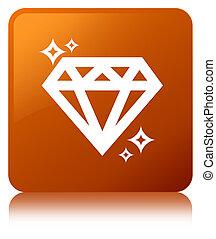 Diamond icon brown square button