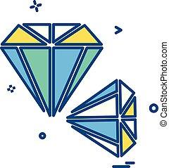 Diamond icon design vector
