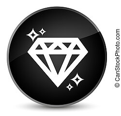 Diamond icon elegant black round button