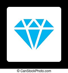 Diamond Icon from Commerce Buttons Over Color Set