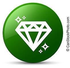 Diamond icon green round button