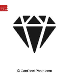 Diamond icon in trendy flat style isolated on background. Diamond icon page symbol for your web site design Diamond icon logo, app, UI. Diamond icon illustration, .