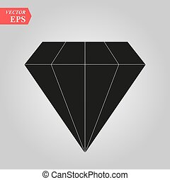 Diamond icon in trendy flat style isolated on background. Vector illustration, EPS10.
