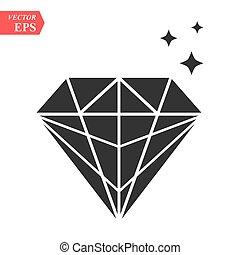Diamond icon in trendy flat style isolated on white background. logo, app, UI. Vector illustration, EPS 10.
