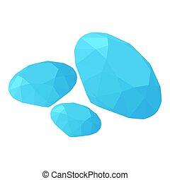 Diamond icon, isometric style