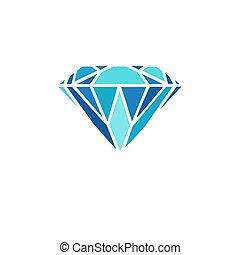 Diamond icon on white background EPS10