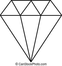 Diamond icon , outline style