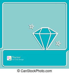 Diamond icon outline.