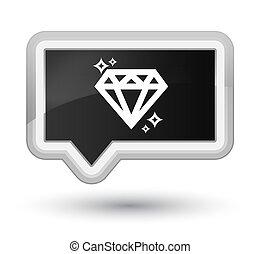 Diamond icon prime black banner button