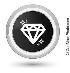 Diamond icon prime black round button