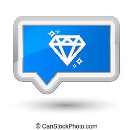 Diamond icon prime cyan blue banner button