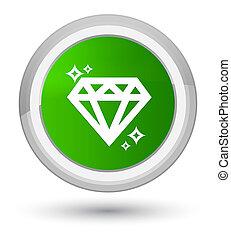 Diamond icon prime green round button
