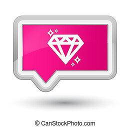 Diamond icon prime pink banner button