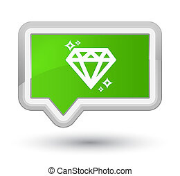 Diamond icon prime soft green banner button