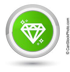 Diamond icon prime soft green round button