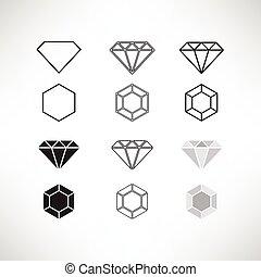 Diamond Icon Set