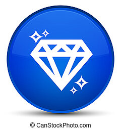 Diamond icon special blue round button
